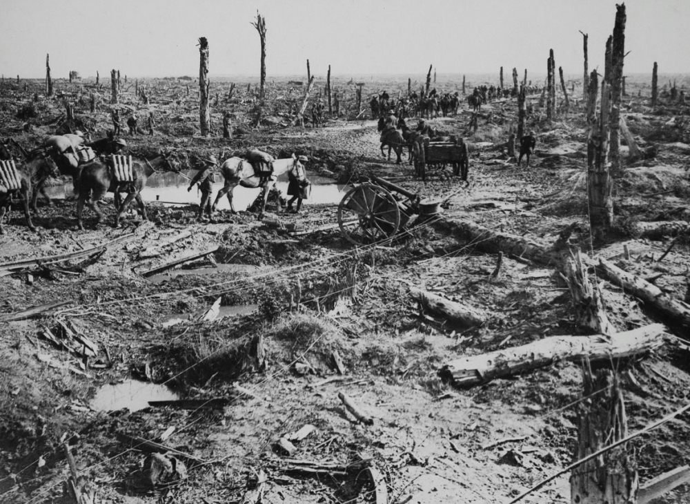 A Road In Flanders (October 1918) - Henry Bartholomew